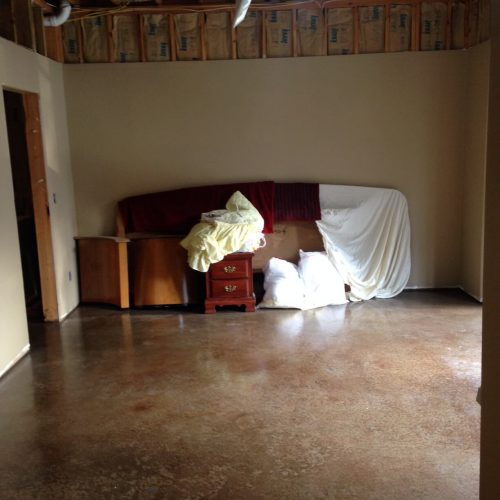 Before basement - Home owner started and decided to go in a different direction